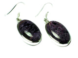 Large CHAROITE Sterling Silver 925 Gemstone Earrings - (CHER0806171)