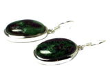 RUBY ZOISITE Sterling Silver 925 Gemstone Earrings - (RZE0806171)