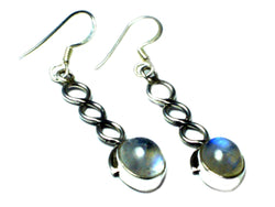 MOONSTONE Sterling Silver Gemstone Earrings 925