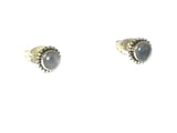 MOONSTONE Sterling Silver Gemstone STUD / Earrings 925