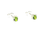 Round PERIDOT Sterling Silver 925 Gemstone Earrings / STUDS - 5 mm