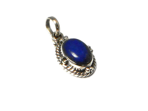 Afghanistani LAPIS LAZULI Sterling Silver 925 Gemstone Pendant