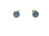 Australian Opal Sterling Silver 925 Gemstone Earrings / STUDS - 6 mm - Gift Boxed
