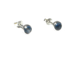 Round KYANITE Sterling Silver 925 Gemstone Earrings / STUDS - 5 mm - Gift Boxed