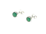 EMERALD Sterling Silver 925 Gemstone STUD / Earrings - 5 mm - Gift Boxed