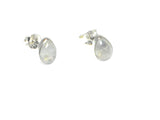 MOONSTONE Pear Shaped Sterling Silver Gemstone Ear Studs 925 - Gift boxed