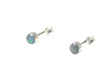 Australian Opal Sterling Silver 925 Gemstone Earrings / STUDS - 5 mm - Gift Boxed