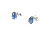 KYANITE pear shaped Sterling Silver 925 Gemstone Earrings / STUDS - 5 x 7 mm