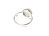 Round Moonstone Sterling Silver 925 Gemstone Ring  - Gift Boxed