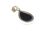 Teardrop Shaped Black ONYX Sterling Silver 925 Gemstone Pendant
