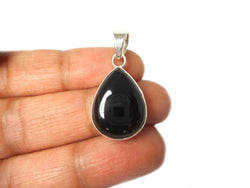 Black ONYX Sterling Silver 925 Gemstone Pendant
