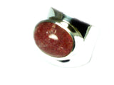SUNSTONE Sterling Silver 925 Gemstone Ring - Size K - (SSR2505171)