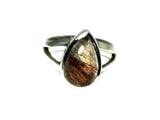 Copper Rutile QUARTZ Sterling Silver 925 Gemstone Ring - Size J - (RQR250511)