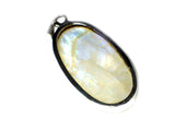 Oval MOONSTONE Sterling Silver 925 Gemstone Pendant - (MSPT1306171)