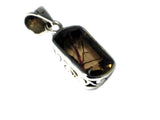 Copper Rutile QUARTZ Sterling Silver 925 Gemstone Pendant - (RQPT1306171)