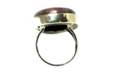 RUBY in ZOISITE Sterling Silver 925 Gemstone Ring (Size N) - (RZR1306171)