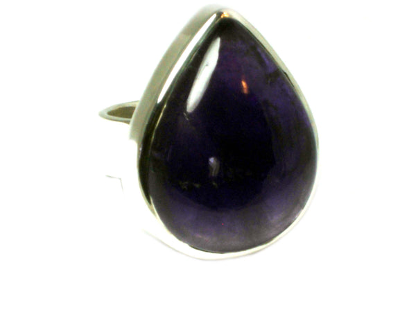 AMETHYST Sterling Silver 925 Gemstone Ring (Size J)