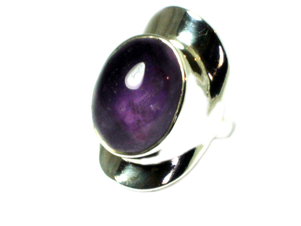 AMETHYST Sterling Silver 925 Gemstone Ring (Size N)