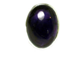 AMETHYST Sterling Silver 925 Oval Gemstone Ring (Size K) - (AMR1306171)