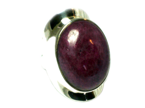 RUBY Sterling Silver 925 Gemstone Ring (Size L)