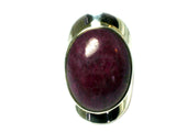 RUBY Sterling Silver 925 Gemstone Ring (Size L) - (RUR1306171)