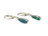 Australian Grade 'A' Opal Sterling Silver 925 Gemstone Earrings - (OPE0208171)
