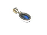 KYANITE Sterling Silver 925 Oval Gemstone Pendant - Gift Boxed (KYPT0208171)