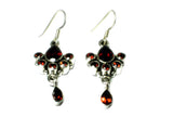 GARNET Sterling Silver 925 Gemstone Earrings - (GER1207172)