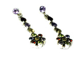 MULTISTONE Sterling Silver 925 Gemstone Earrings - (MSE1207172)