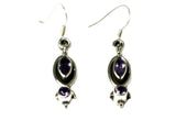 AMETHYST Sterling Silver Gemstone Earrings 925 - (AME1207172)
