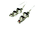 GARNET Sterling Silver 925 Gemstone Earrings - (GER1207173)