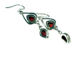 CORAL Sterling Silver Gemstone Earrings 925 - (CER3105171)
