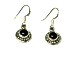 Black Onyx Sterling Silver Gemstone Earrings 925 - (BOER3105171)