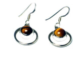 TIGER'S EYE Sterling Silver 925 Gemstone Earrings - (TEE3005141)