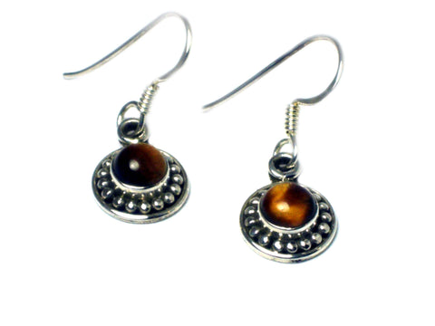 TIGER'S EYE Sterling Silver925 Gemstone Earrings