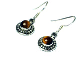 TIGER'S EYE Sterling Silver925 Gemstone Earrings - (TEE3105171)