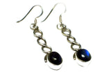 LABRADORITE Sterling Silver Gemstone Earrings 925 - Gift Boxed (LBE3105171)