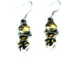 CITRINE Sterling Silver Gemstone Earrings 925 - (CTE1807172)