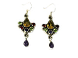 Multi Gemstone Sterling Silver 925 Earrings - (MSE1807172)