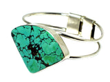 Tibetan TURQUOISE  Sterling Silver 925 Gemstone BANGLE - (TTBG2107171)