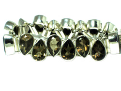 Smoky QUARTZ Sterling Silver 925 Gemstone Bracelet - (SQBL1807171)