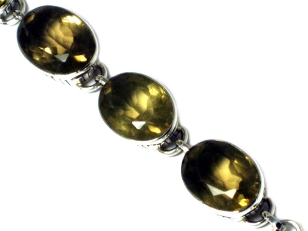 Lemon  QUARTZ  Sterling Silver 925 Gemstone Bracelet