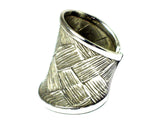 Adjustable Sterling Silver 925 Ring - Hallmarked - (SSR2107171)