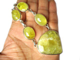 PREHNITE Sterling Silver 925 Gemstone Necklace - (PRNL1807171)