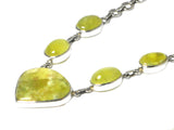PREHNITE Sterling Silver 925 Gemstone Necklace