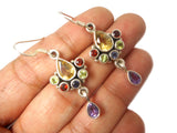 Multi Gemstone Sterling Silver 925 Earrings