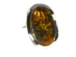 Adjustable Baltic AMBER Sterling Silver 925 Gemstone Ring