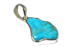 'Sleeping Beauty' TURQUOISE Sterling Silver 925 Gemstone Pendant