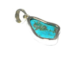 'Sleeping Beauty' TURQUOISE Sterling Silver 925 Gemstone Pendant - (SBPT0507171)