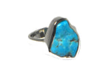 Adjustable 'Sleeping Beauty' TURQUOISE Sterling Silver 925 Ring